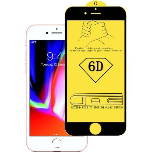 Apple iPhone 8 Tempered Glass Black High Quality 6D 1