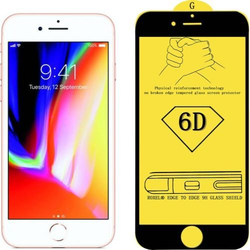 Apple iPhone 8 Tempered Glass Black High Quality 1