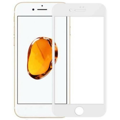 Apple iPhone 8 Plus Tempered Glass White High Quality 6D 1