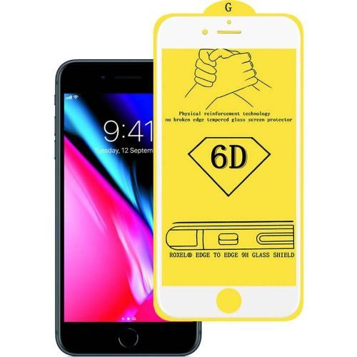 Apple iPhone 8 Plus Tempered Glass White High Quality 1