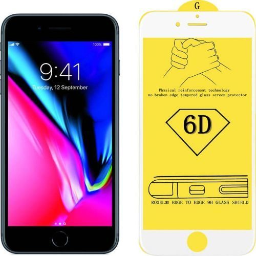 Apple iPhone 8 Tempered Glass White High Quality 5D 1