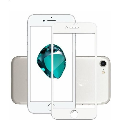 Apple iPhone 8 Tempered Glass White High Quality 1