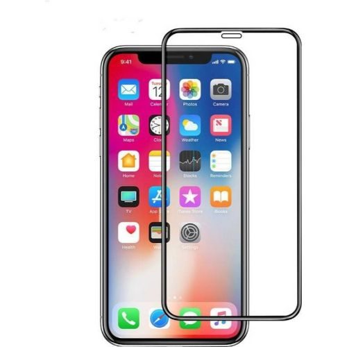 Apple iPhone X Tempered Glass Black High Quality 1