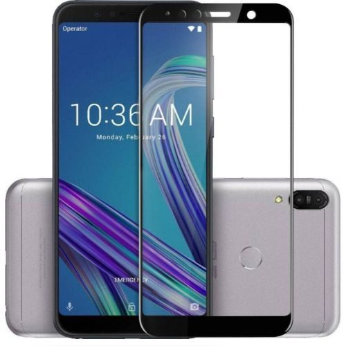 Asus ZenFone Max M1 Tempered Glass Black High Quality 6D 1