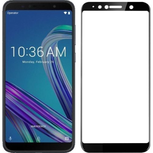Asus Zenfone Max Pro M1 Tempered Glass Black High Quality 1
