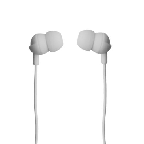 TIGERIFY TCG-21 Earphones Headphones Headset 3.5mm Jack With Mic (White)