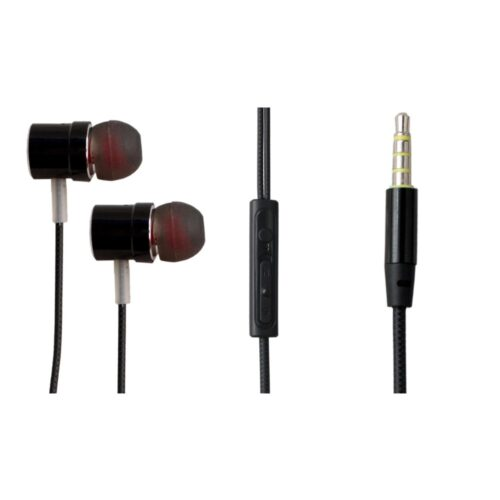 TIGERIFY Candy BGYR Premium High End Headphones Earphones 3.5mm Jack with Mic (Black)