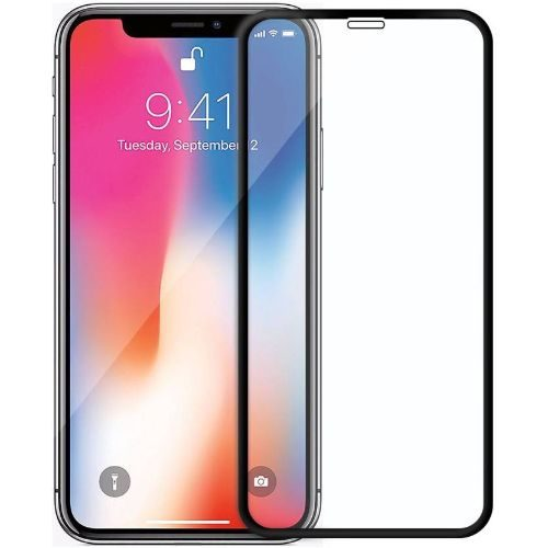Apple iPhone X Tempered Glass Black High Quality 5D 1