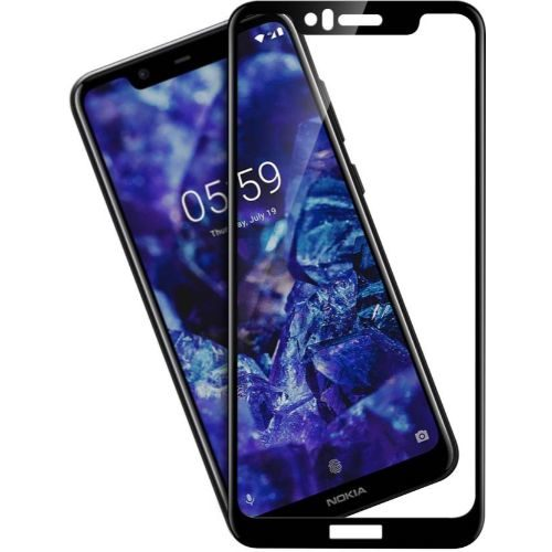 Nokia 5.1 Plus Tempered Glass Black High Quality 6D 1