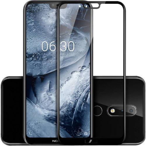 Nokia 6.1 Plus Tempered Glass Black High Quality 6D 1