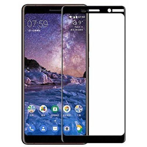 Nokia 7 Plus Tempered Glass Black High Quality 6D 1