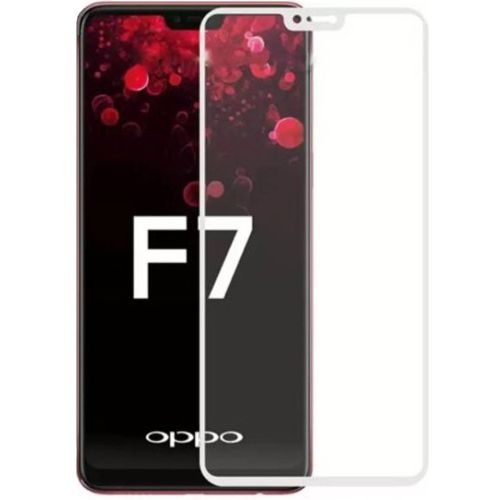 OPPO F7 Tempered Glass White High Quality 6D 1