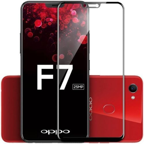 OPPO F7 Tempered Glass Black High Quality 6D 1