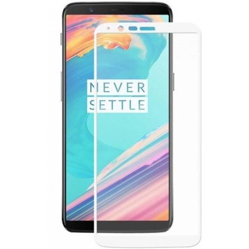 OnePlus 5T Tempered Glass White High Quality 5D 1