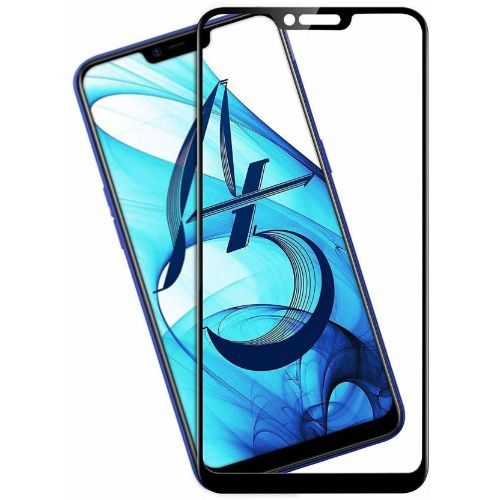 Oppo A5 Tempered Glass Black High Quality 1