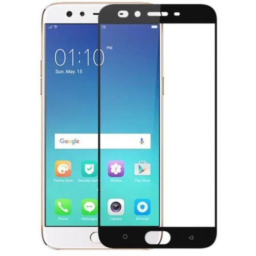 Oppo F3 Tempered Glass Black High Quality 1