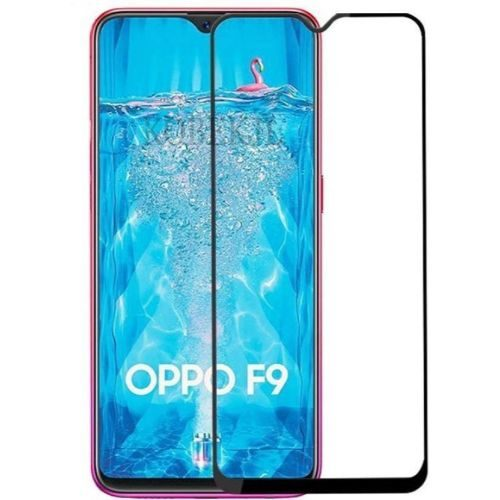 Oppo F9 Tempered Glass Black High Quality 6D 1