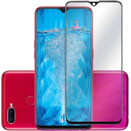Oppo F9 Pro Tempered Glass Black High Quality 6D 1