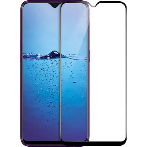 Oppo F9 Tempered Glass Black High Quality 11D 1