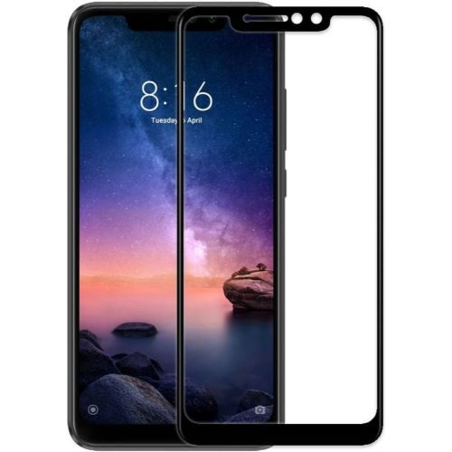 Redmi Note 6 Pro Tempered Glass Black High Quality 1