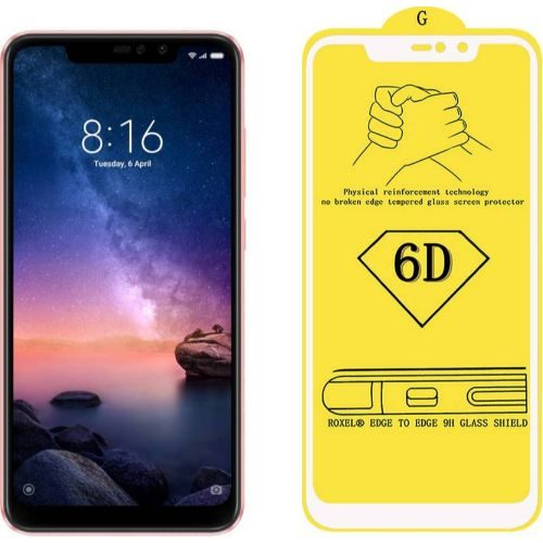 Redmi Note 6 Pro Tempered Glass White High Quality 1