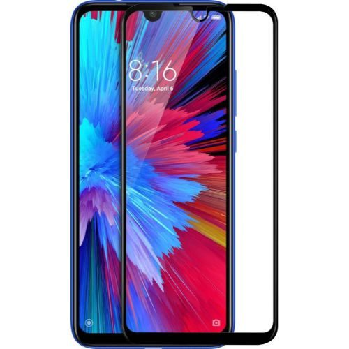 Redmi Note 7 Tempered Glass Black High Quality 1