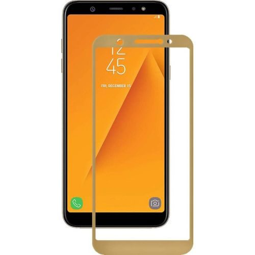 Samsung Galaxy A6 Tempered Glass Gold High Quality 1