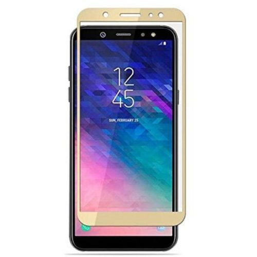 Samsung Galaxy A6 Plus Tempered Glass Gold High Quality 1