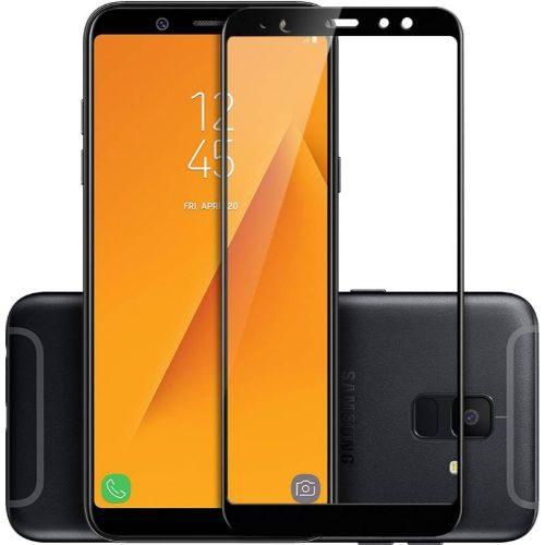 Samsung Galaxy A6 Tempered Glass Black High Quality 1
