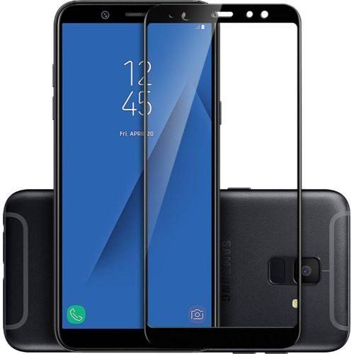 Samsung Galaxy A6 Tempered Glass Black High Quality 6D 1