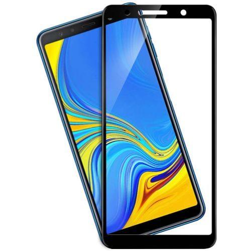 Samsung Galaxy A7 2018 Tempered Glass Black High Quality 1
