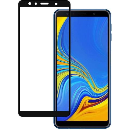 Samsung Galaxy A7 2018 Tempered Glass Black High Quality 5D 1