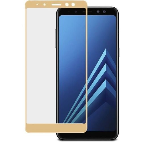 Samsung Galaxy A8 Plus Tempered Glass Gold High Quality 6D 1