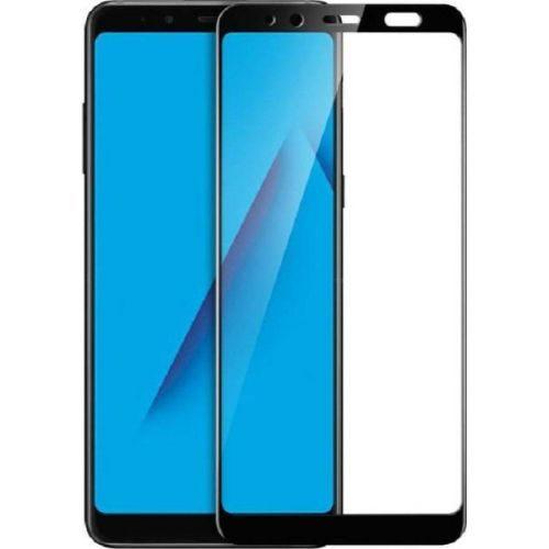 Samsung Galaxy A8 Plus Tempered Glass Black High Quality 6D 1