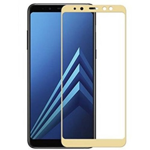 Samsung Galaxy A8 Plus Tempered Glass Gold High Quality 1