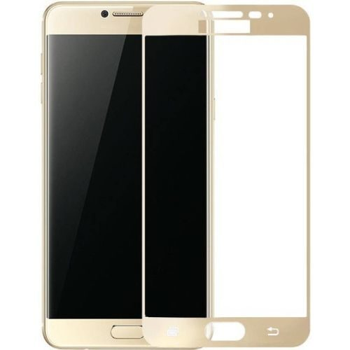 Samsung Galaxy C7 Pro Tempered Glass Gold High Quality 5D 1