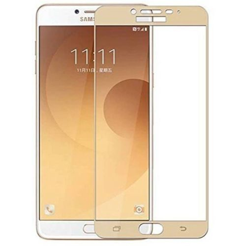 Samsung Galaxy C9 Pro Tempered Glass Gold High Quality 1