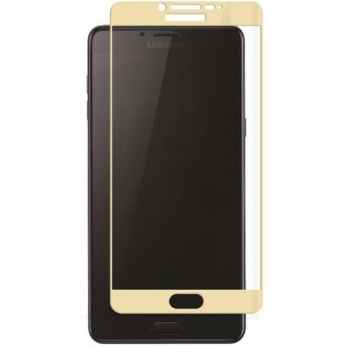 Samsung Galaxy C9 Pro Tempered Glass Gold High Quality 5D 1