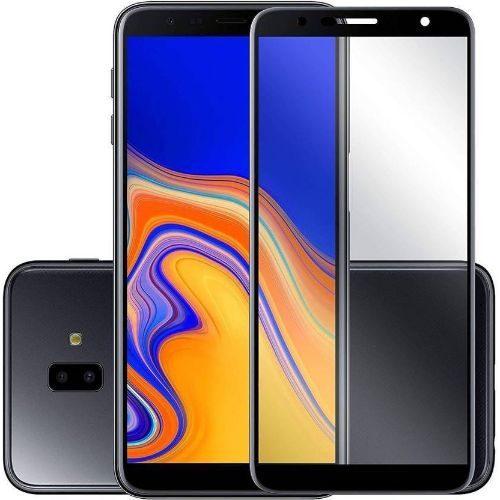 Samsung Galaxy J4 Plus Tempered Glass Black High 5D 1