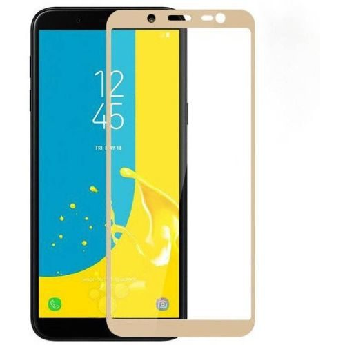Samsung Galaxy J6 Tempered Glass Gold High Quality 6D 1