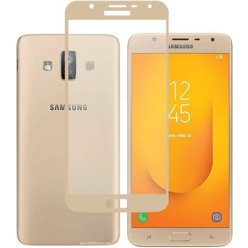 Samsung Galaxy J7 Duo Tempered Glass Gold High Quality 1