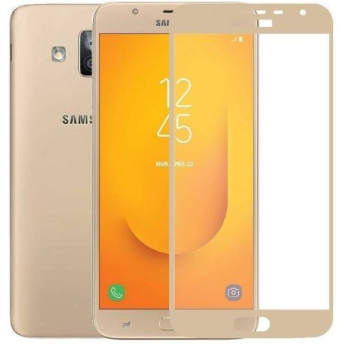 Samsung Galaxy J7 Duo Tempered Glass Gold High Quality 5D 1