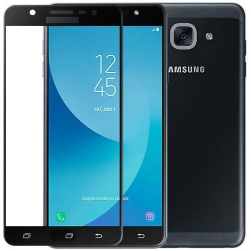 Samsung Galaxy J7 MAX Tempered Glass Black High Quality 1
