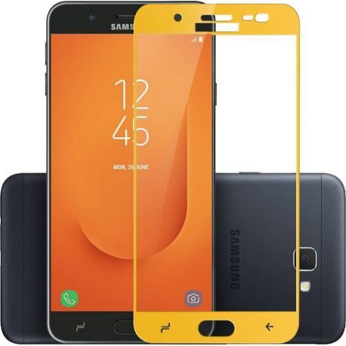 Samsung Galaxy J7 Prime 2 Tempered Glass Gold High Quality 5D 1