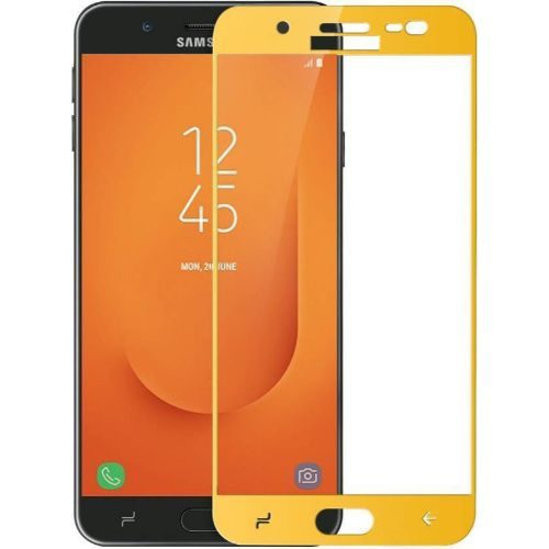 Samsung Galaxy J7 Prime 2 Tempered Glass Gold High Quality 1