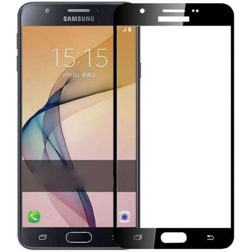 Samsung Galaxy J7 Prime Tempered Glass Black High Quality 1