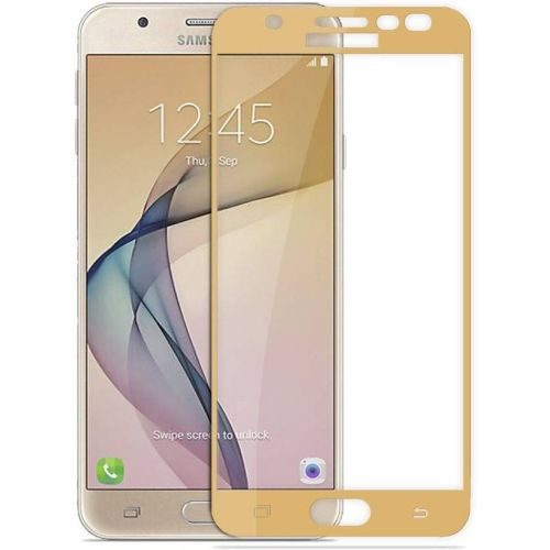 Samsung Galaxy J7 Prime Tempered Glass Gold High Quality 5D 1