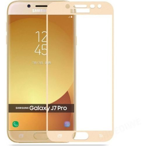 Samsung Galaxy J7 Pro Tempered Glass Gold High Quality 1