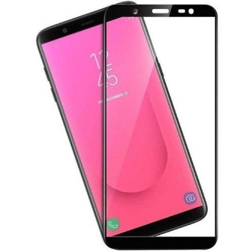 Samsung Galaxy J8 Tempered Glass Black High Quality 6D 1
