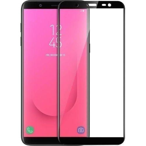 Samsung Galaxy J8 Tempered Glass Black High Quality 1